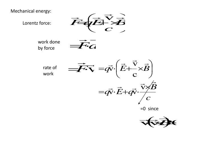 Mechanical energy: