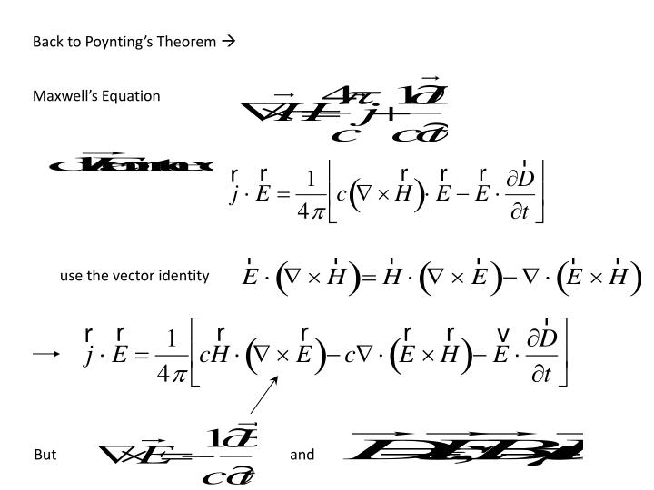 Back to Poynting's Theorem