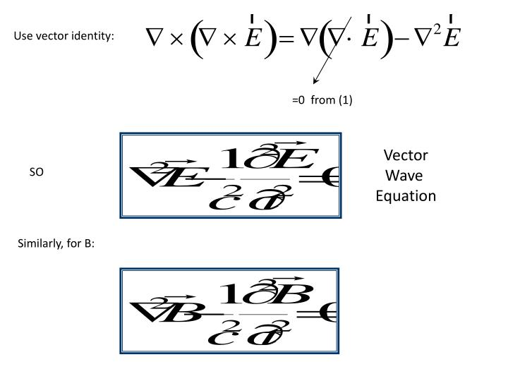 Use vector identity: