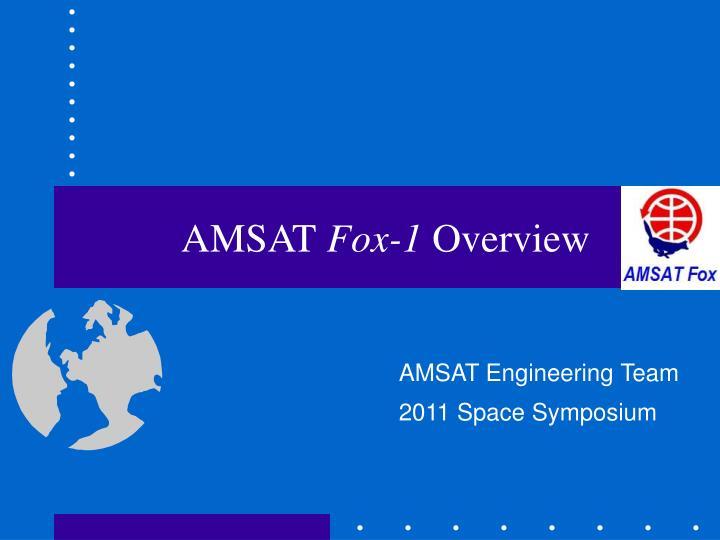 amsat fox 1 overview
