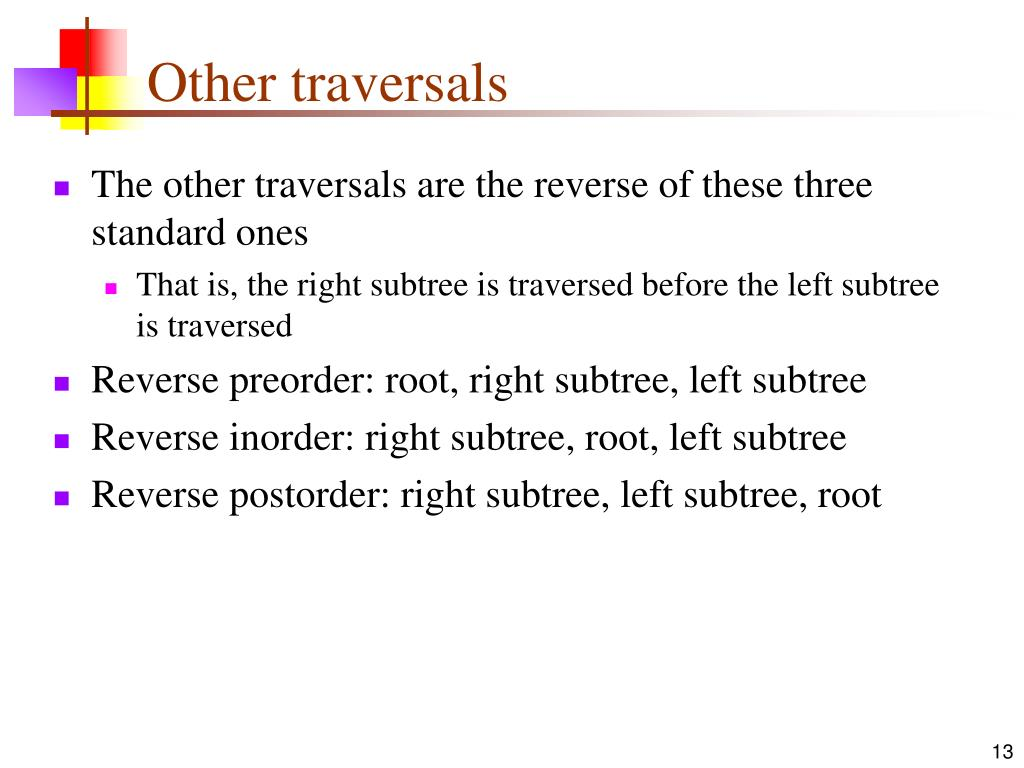 Other traversals