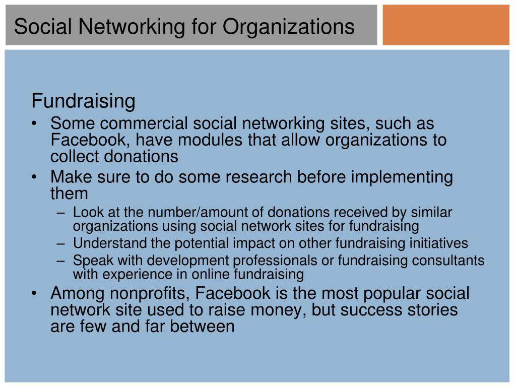 Social Networking for Organizations