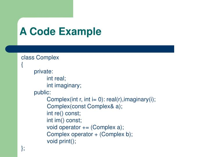 A Code Example