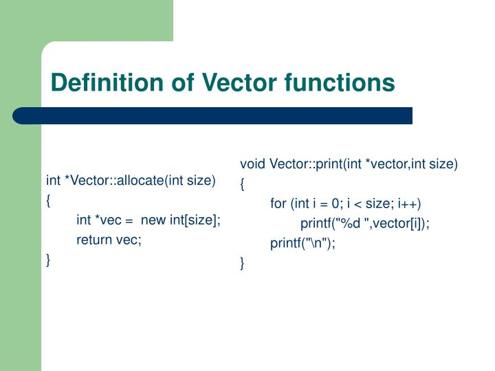int *Vector::allocate(int size)