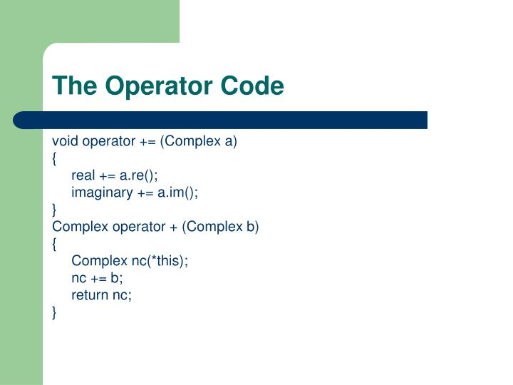 The Operator Code