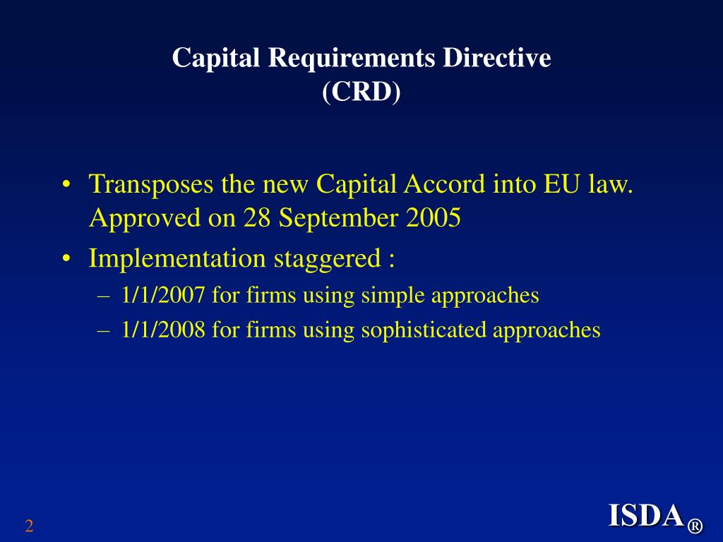 Capital Requirements Directive