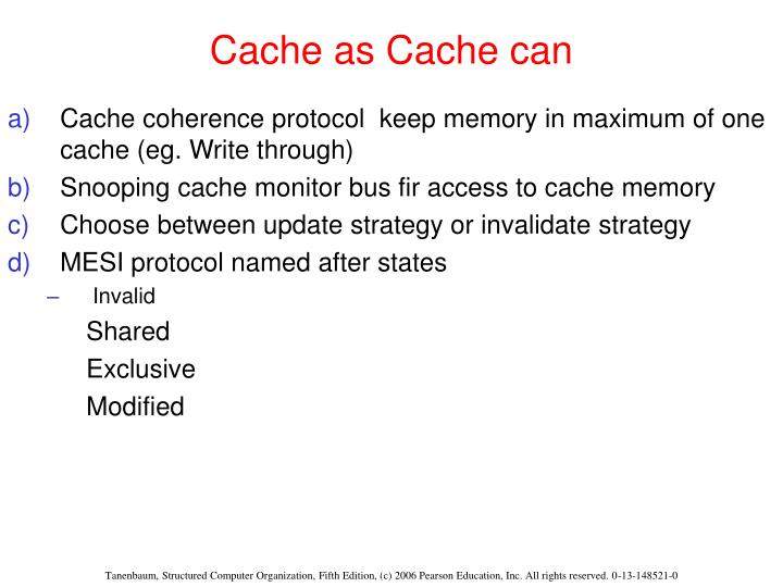 Cache as Cache can