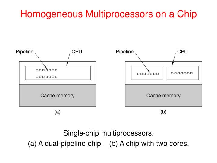 Homogeneous Multiprocessors on a Chip