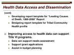 health data access and dissemination9