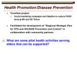 health promotion disease prevention13