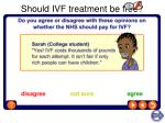 should ivf treatment be free
