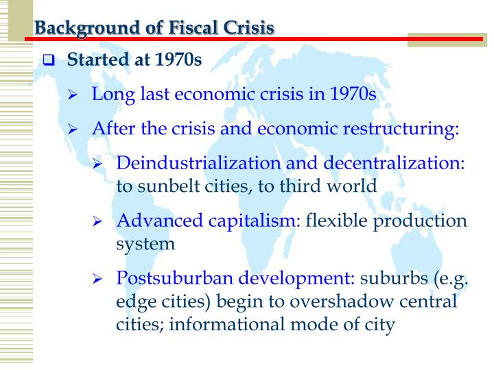 Background of Fiscal Crisis