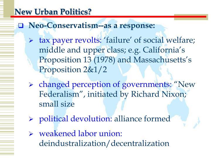 New Urban Politics?