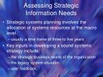 assessing strategic information needs