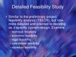 detailed feasibility study