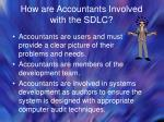how are accountants involved with the sdlc