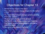 objectives for chapter 13