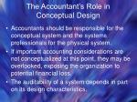 the accountant s role in conceptual design