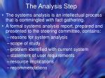 the analysis step