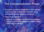 the conceptualization phase
