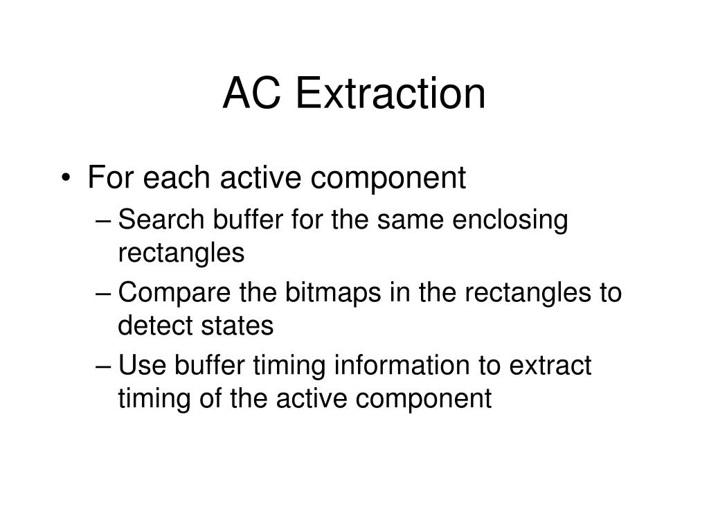 AC Extraction