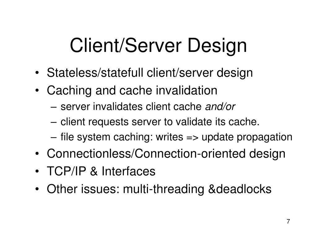 Client/Server Design