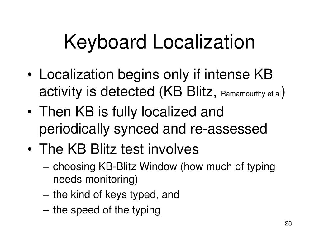 Keyboard Localization