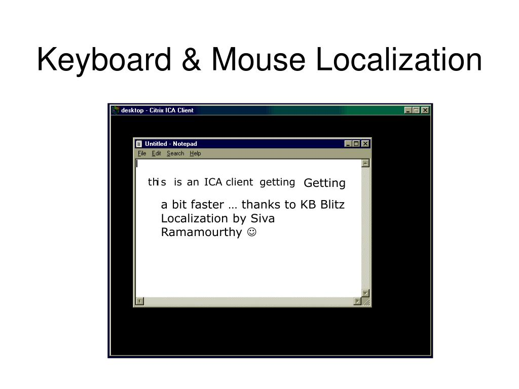 Keyboard & Mouse Localization