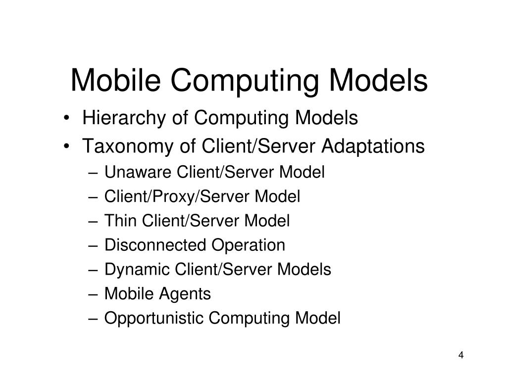 Mobile Computing Models