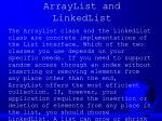 arraylist and linkedlist