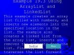 example 19 3 using arraylist and linkedlist