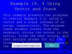 example 19 4 using vector and stack