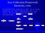 java collection framework hierarchy cont