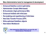 more administrative tools for management development