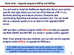 some hints upgrade programs sapup and sapjup