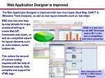 web application designer is improved