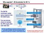 why upgrade bi accelerator for bi 7 x