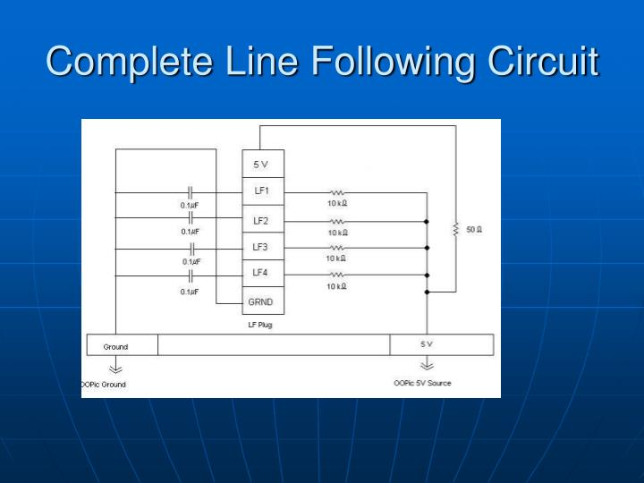 Complete Line Following Circuit