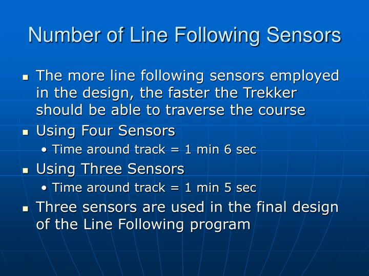 Number of Line Following Sensors