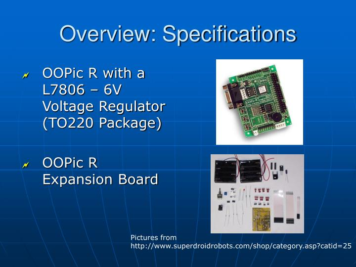 Overview specifications