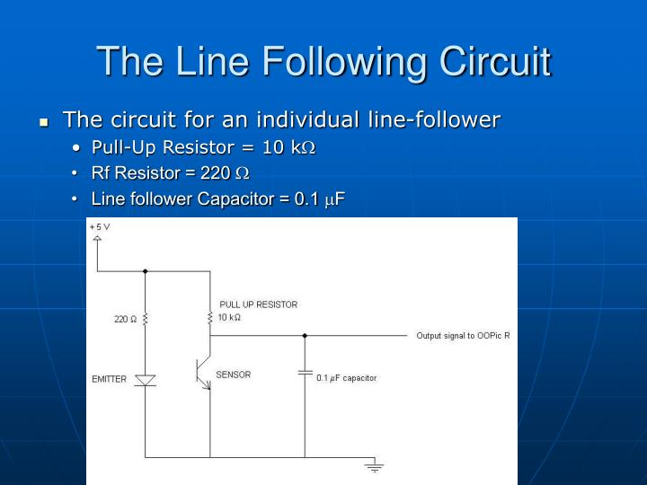 The Line Following Circuit