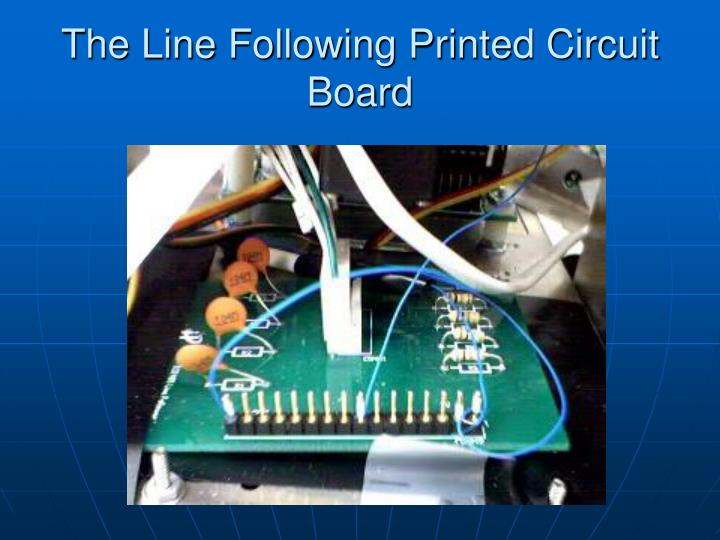 The Line Following Printed Circuit Board