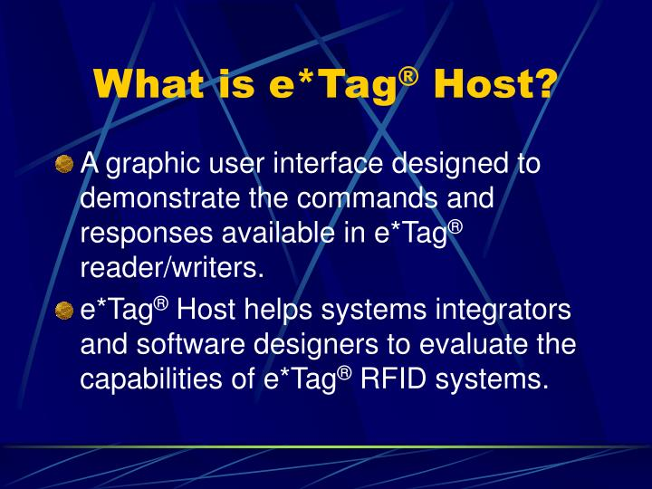 What is e tag host