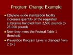 program change example