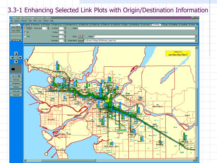 3.3-1 Enhancing Selected Link Plots with Origin/Destination Information