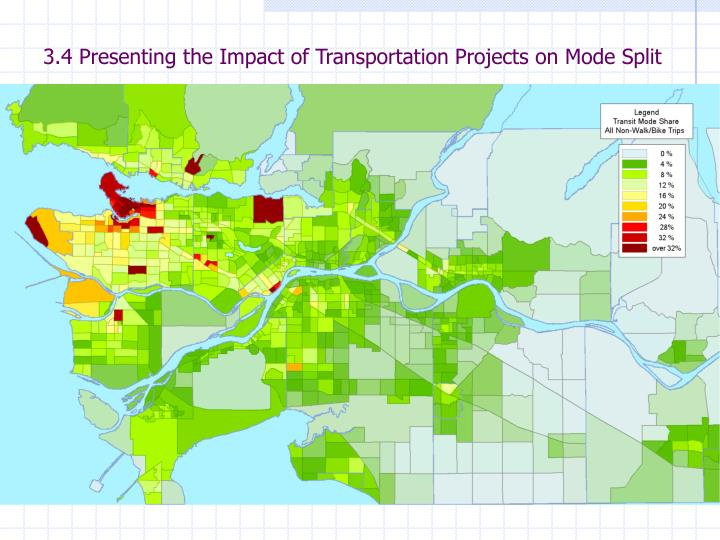 3.4 Presenting the Impact of Transportation Projects on Mode Split