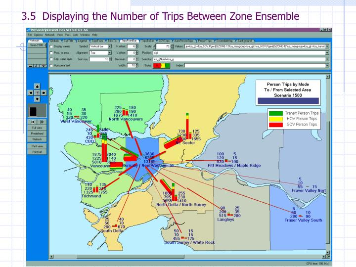 3.5  Displaying the Number of Trips Between Zone Ensemble