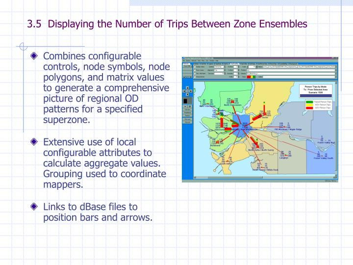 3.5  Displaying the Number of Trips Between Zone Ensembles