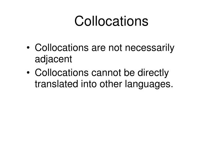 Collocations