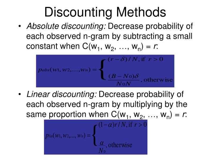Discounting Methods